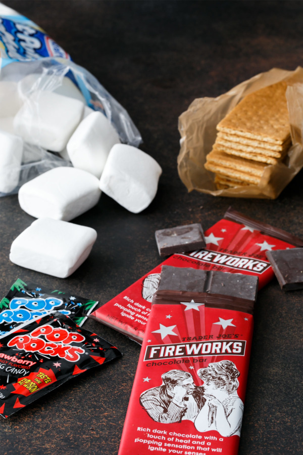 Ingredients to make Firecracker S'Mores