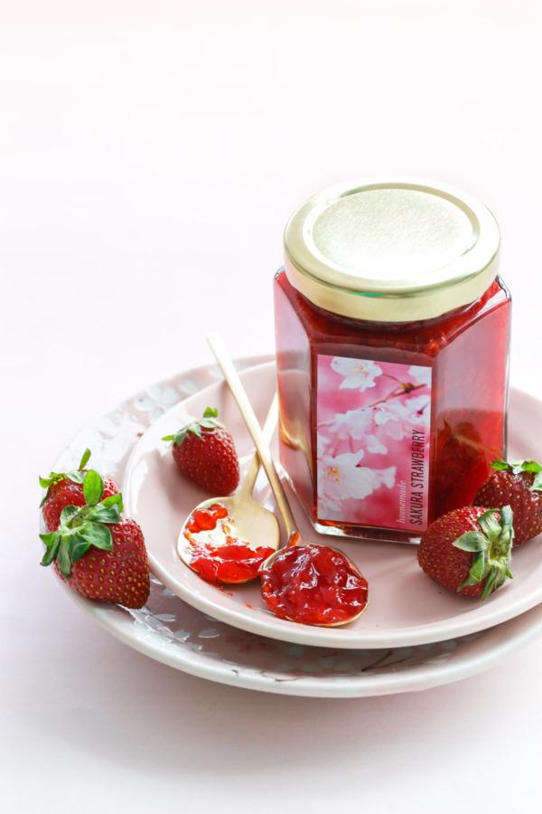 Homemade Sakura Strawberry Jam Recipe