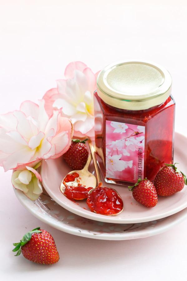 Strawberry Cherry Blossom Jam Recipe