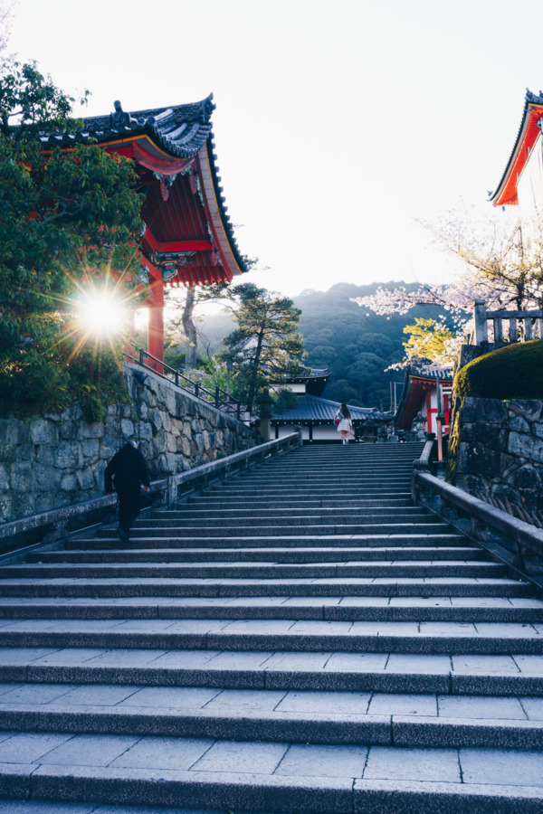 Kiyomizu-dera Temple at Sunrise, Kyoto, Japan