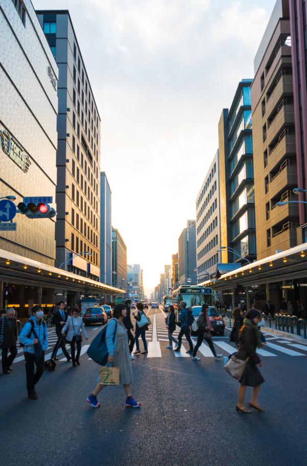 Kyoto Street at Sunset
