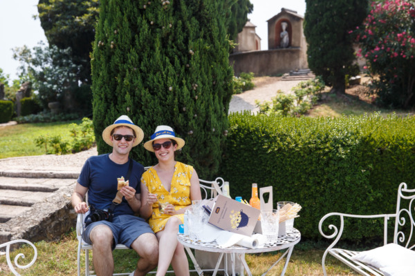 Picnic at Rana Villa along Lake Garda, Italy