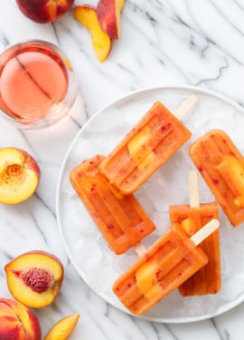 Fresh Peach & Rosé Wine Pops Recipe