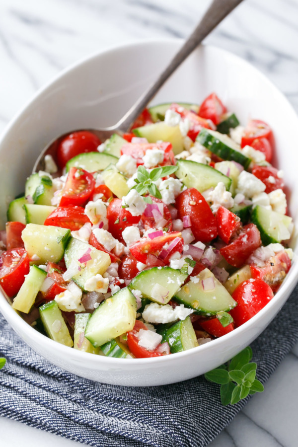 Tomato-Cucumber Salad with Feta