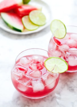 Hibiscus Watermelon Agua Fresca Recipe - Quick and easy!