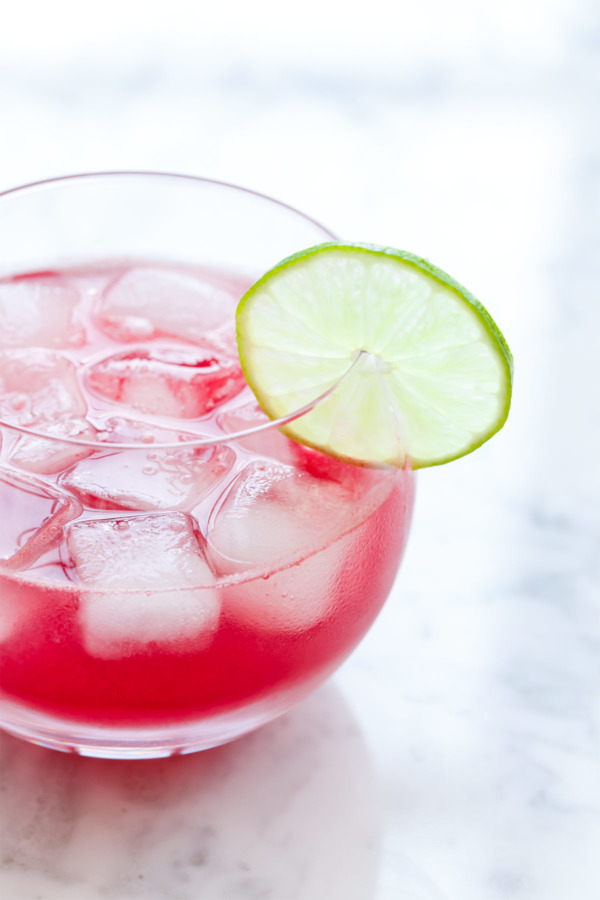 Fresh Watermelon Agua Fresca recipe with Hibiscus and Lime