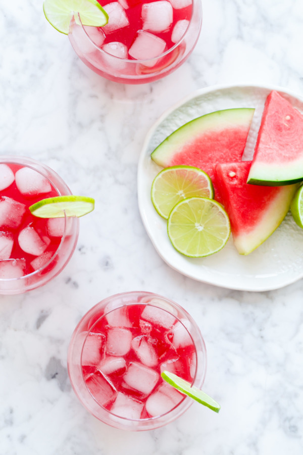 Refreshing Watermelon & Hibiscus Agua Fresca