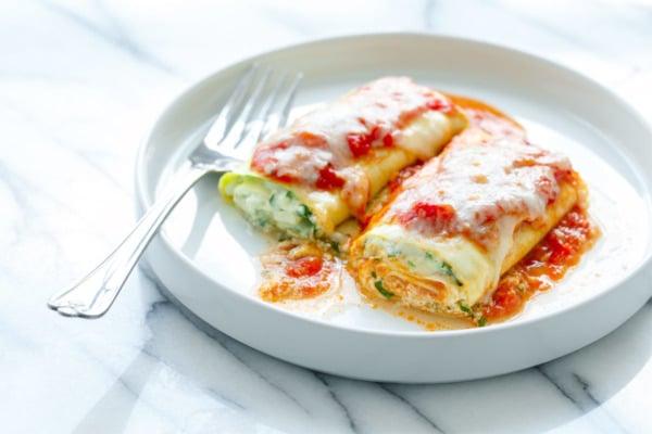 Spinach & Ricotta Zucchini Rollatini