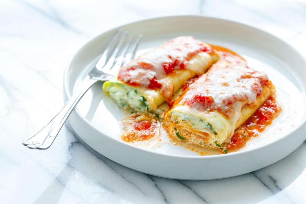 Zucchini Lasagna Rolls With Spinach Ricotta Filling Love And