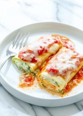 Spinach & Ricotta Zucchini Rollatini Recipe (Low Carb & Gluten Free!)