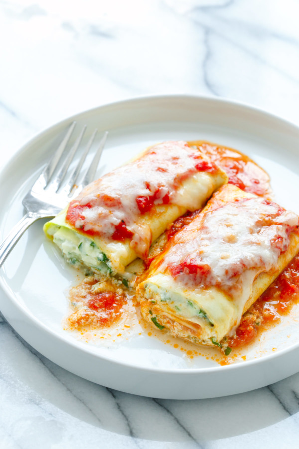 Zucchini Lasagna Roll Recipe with Spinach & Ricotta Filling (Low Carb & Gluten Free!)