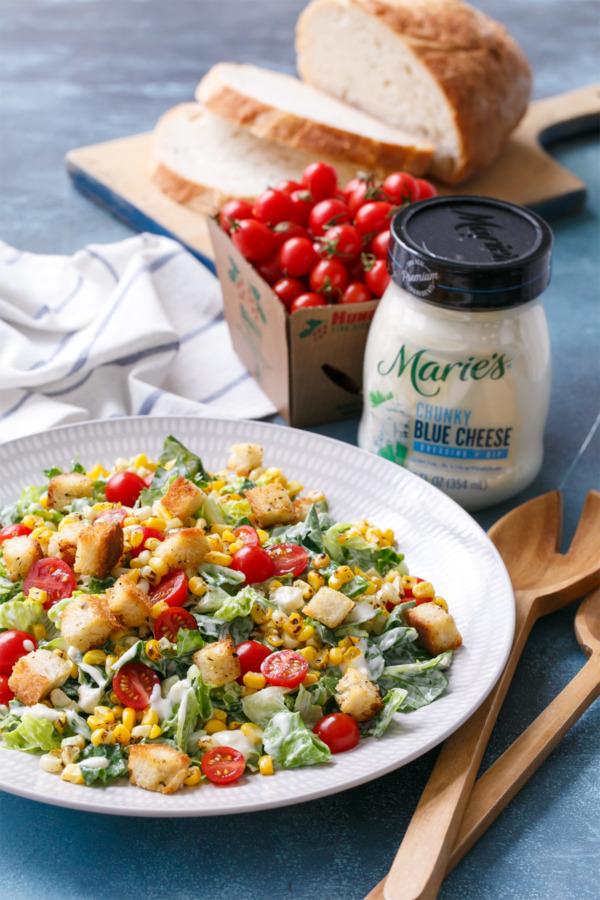 Chopped Romaine Salad with Marie's Chunky Blue Cheese Dressing