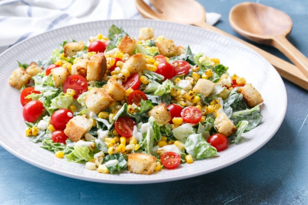 Chopped Romaine Salad with Blue Cheese