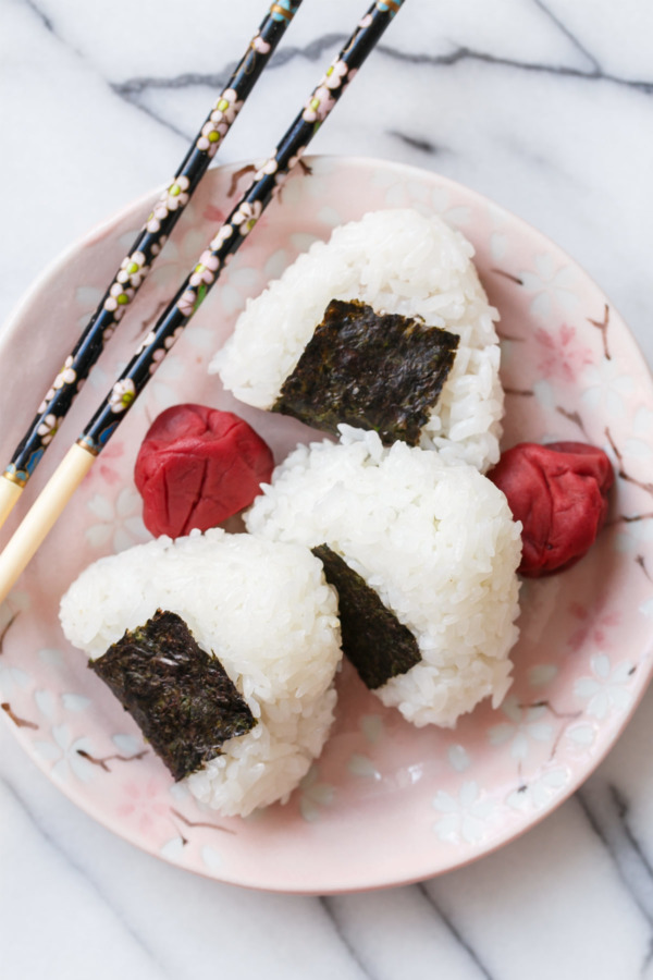 Umeboshi Onigiri Recipe filled with salted plums