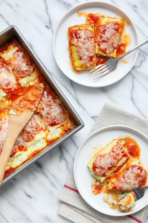 Zucchini Rollatini with Spinach & Ricotta Filling