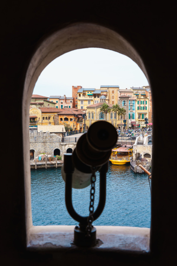 Tokyo Disney Sea: Looking out towards the Mediterranean Harbor