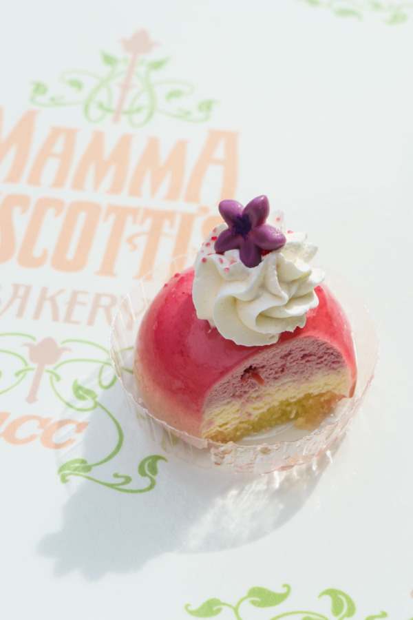 Tokyo DisneySea: Cherry Blossom Mousse Cake from Mamma Biscotti's Bakery at Mediterranean Harbor