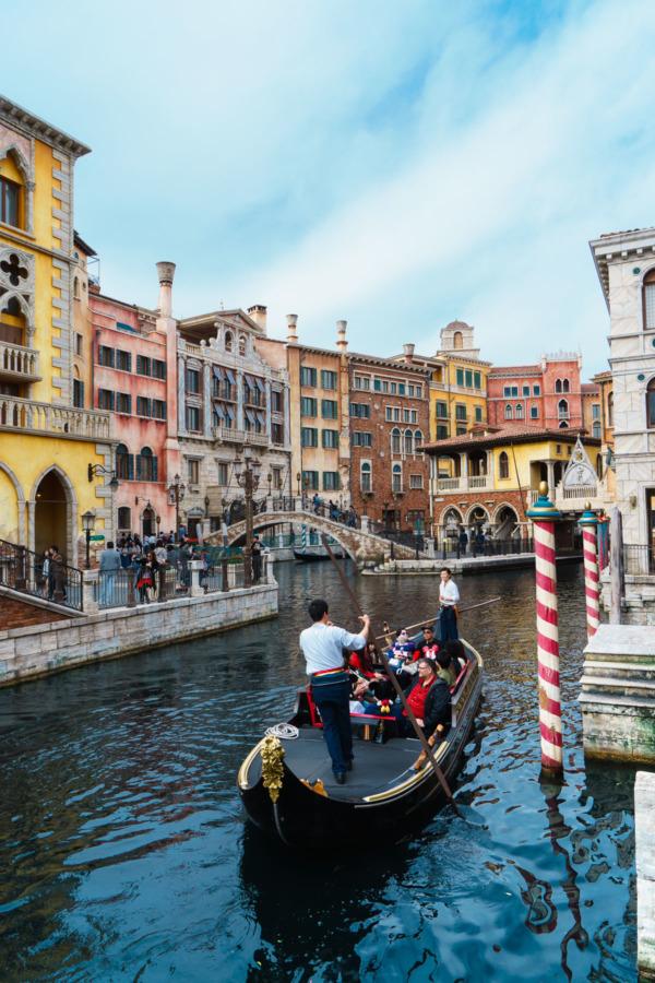 Tokyo Disney Sea: Venetian Gondolas at Mediterranean Harbor