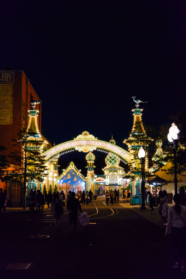 Tokyo Disney Sea: Toyville night lights