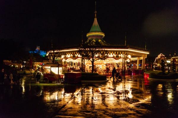 Tokyo Disneyland: Castle Carousel at Night