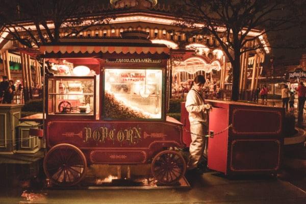 Tokyo Disneyland: Carousel and Popcorn Carts