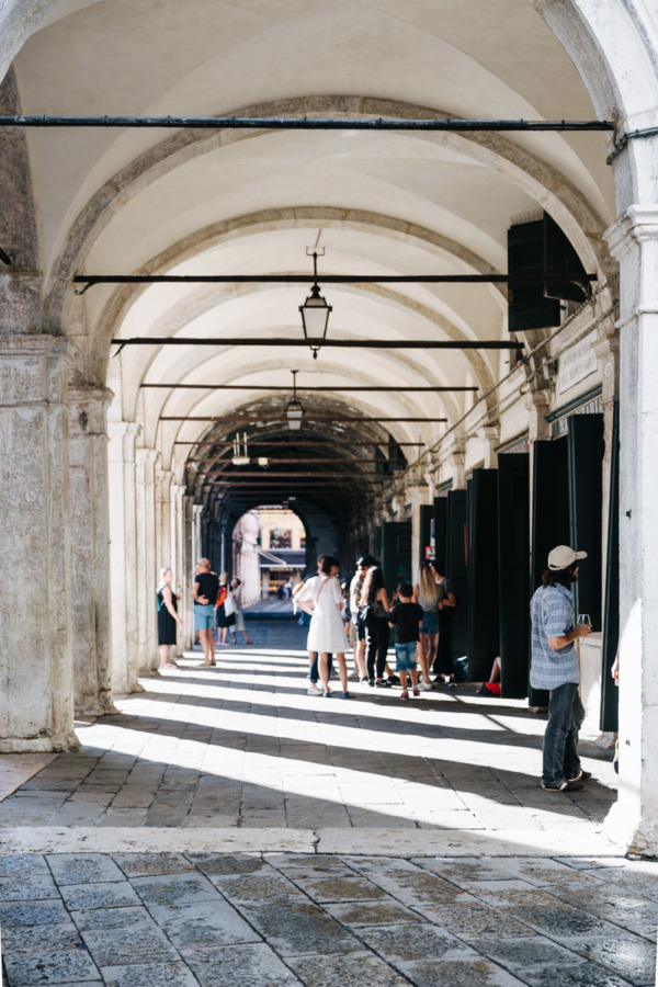 Portico in Piazza San Marco, Venice Italy