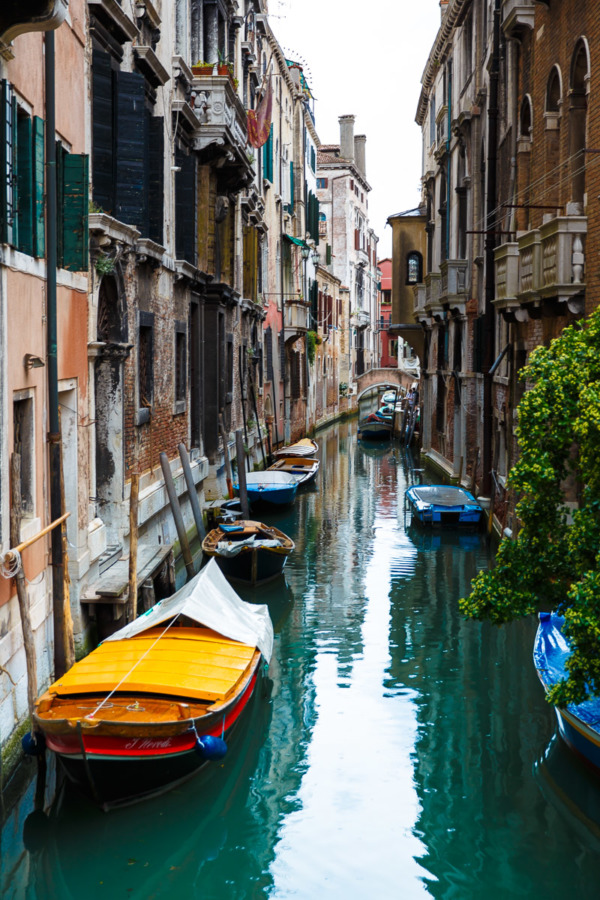 Turquoise canals, Venice Italy