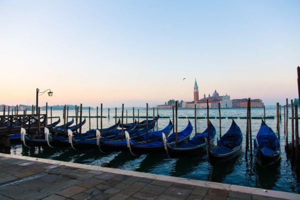 Sunrise in Piazza San Marco, Venice Italy