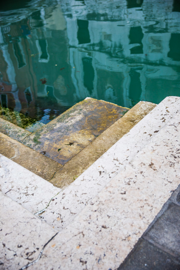 Turquoise Water in Venice