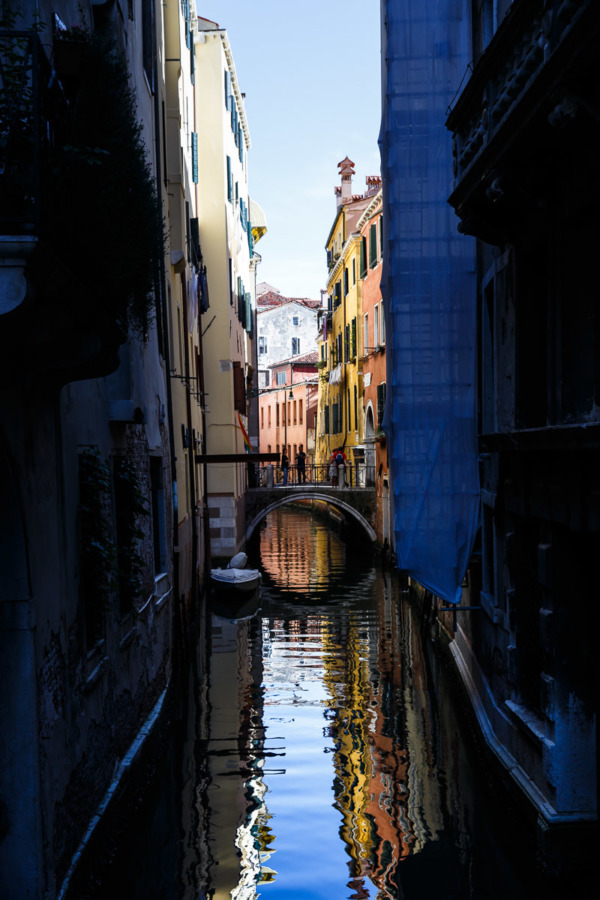Shadowy canal, Venice Italy
