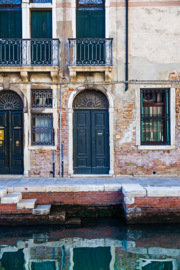 Blue door in Venice, Italy