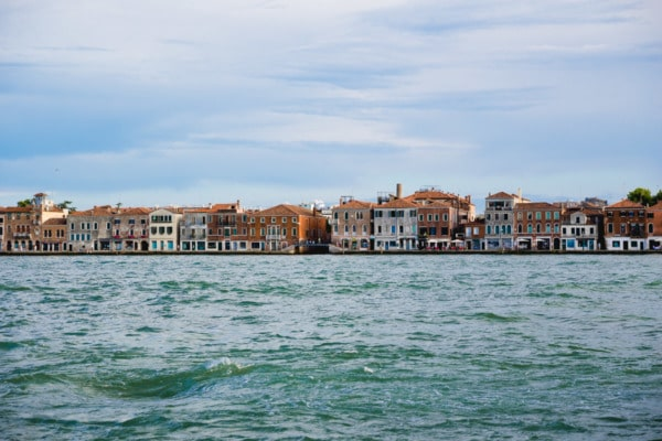 Looking across the water to Guidecca, Venice Italy