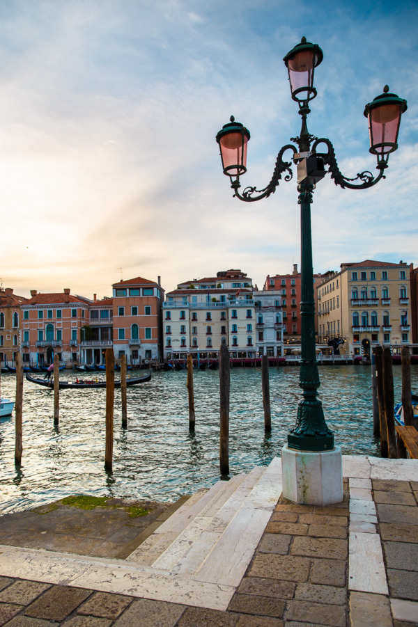 Sunset along the Grand Canal, Venice Italy
