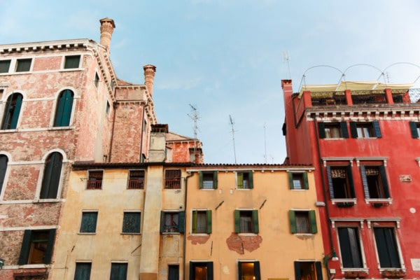 Colorful buildings in Venice, Italy