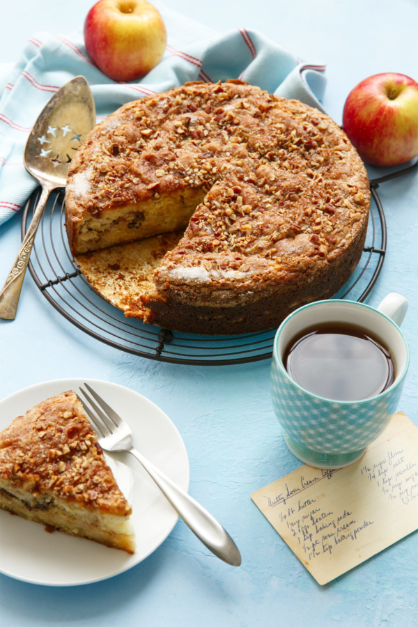 Crispy on top, sweet and tender in the middle, you'll love this perfect apple coffee cake recipe!