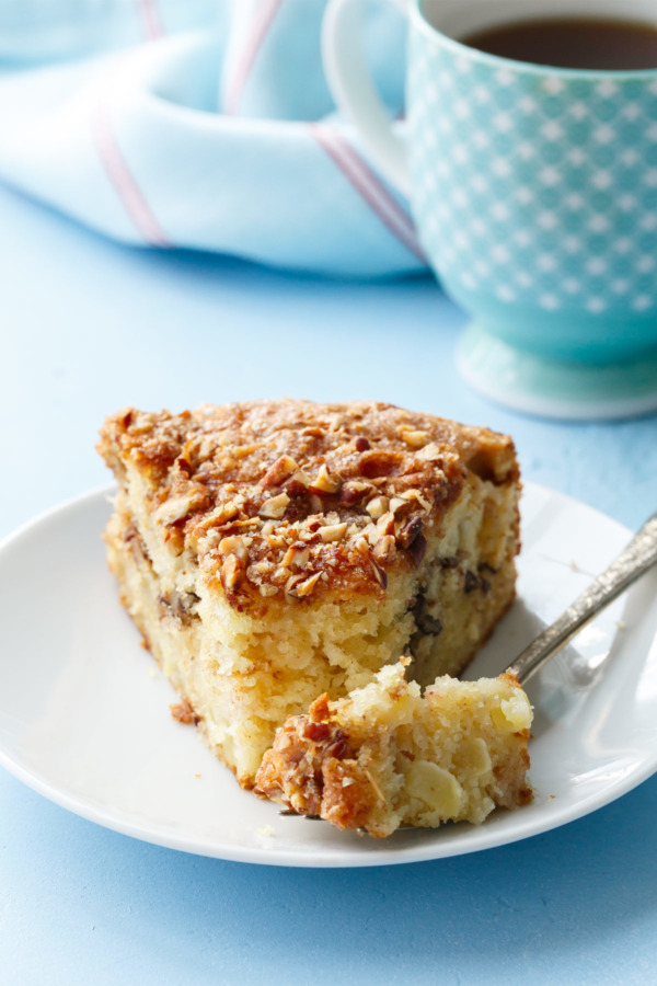 Apple Sour Cream Coffee Cake Recipe, perfect for fall baking!