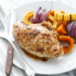Cider-Glazed Chicken Breasts with Fall Vegetables