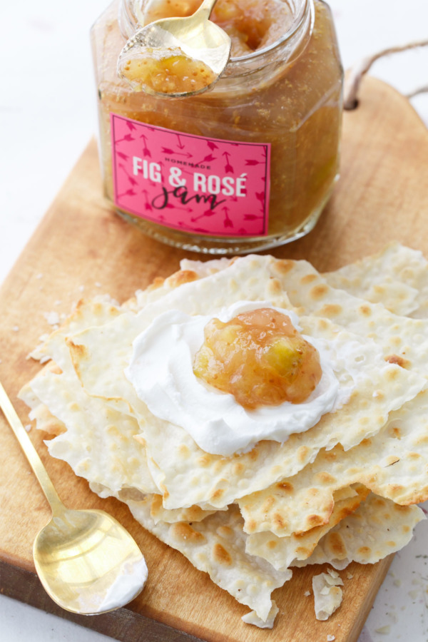 Fall Fig Jam recipe spiked with Rosé. Yum!