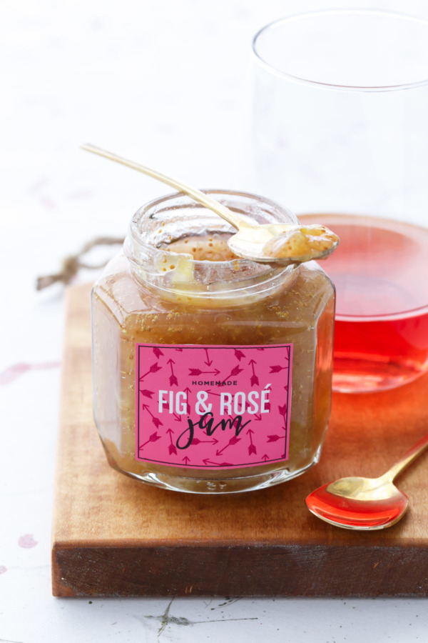 Homemade Fig Rosé Jam Recipe for canning