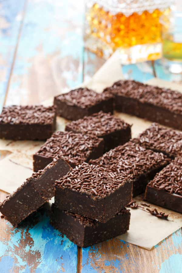 Bourbon Delight Bars with Chocolate Sprinkles