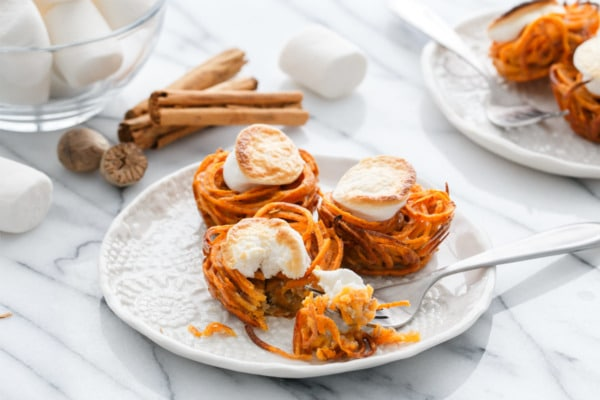 Mini Sweet Potato Casserole Nests