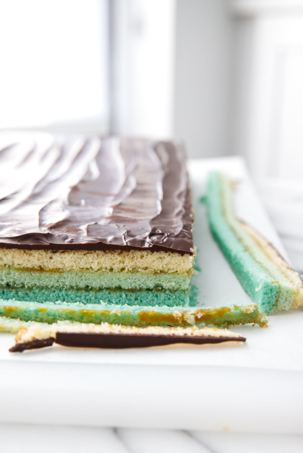 A new twist on Italian Layer Cookies: Ombre effect!