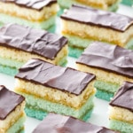 Perfect Italian Tri-Color Cookie Recipe with a turquoise ombre effect