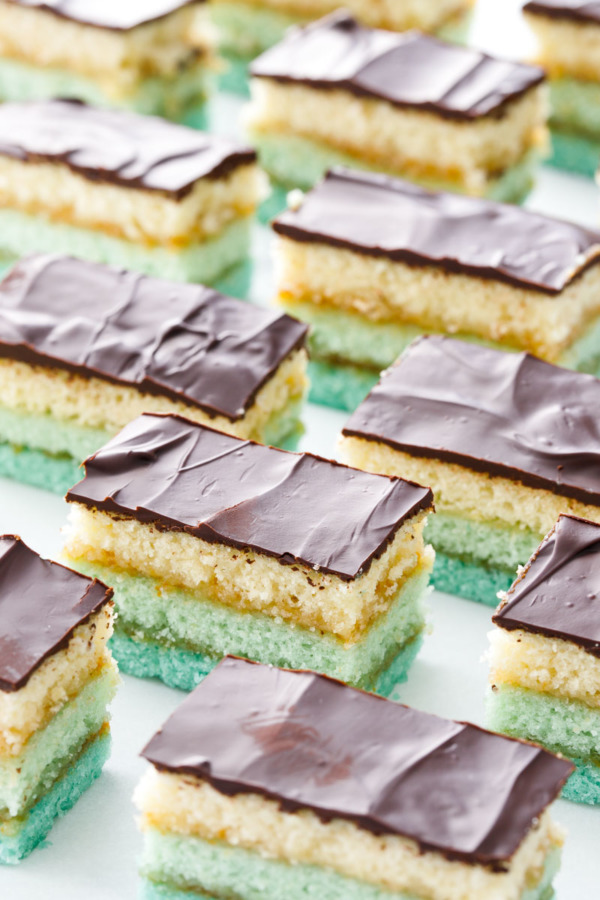 Perfect Italian Tricolor Cookie Recipe with a turquoise ombre effect