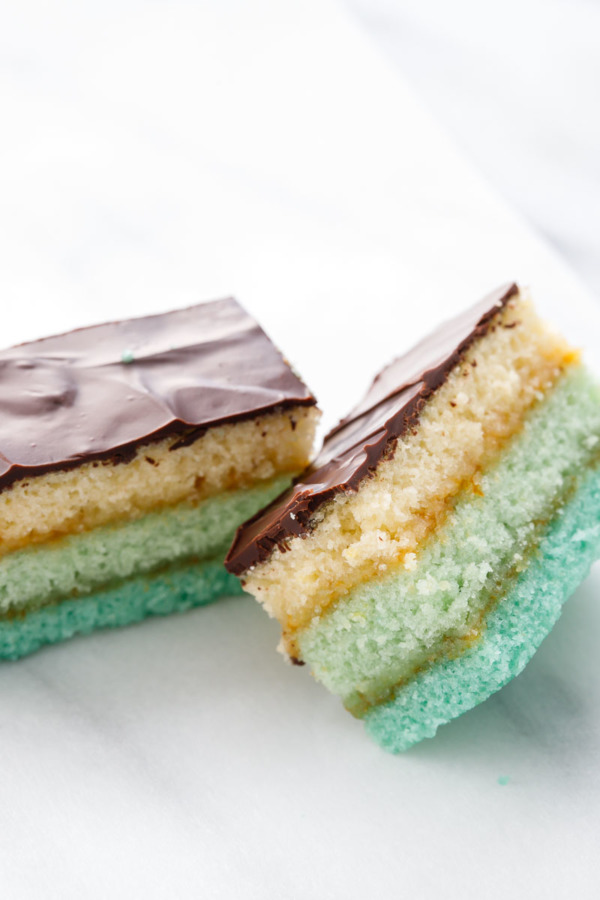 Italian Almond Tricolor Cookie Recipe with a gorgeous turquoise ombre effect
