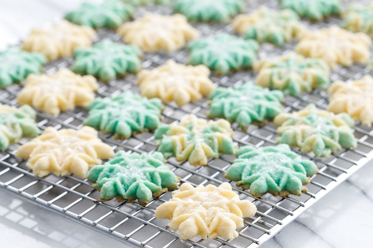 Vanilla Almond Spritz Cookies