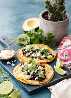 Vegetarian Black Bean Tacos