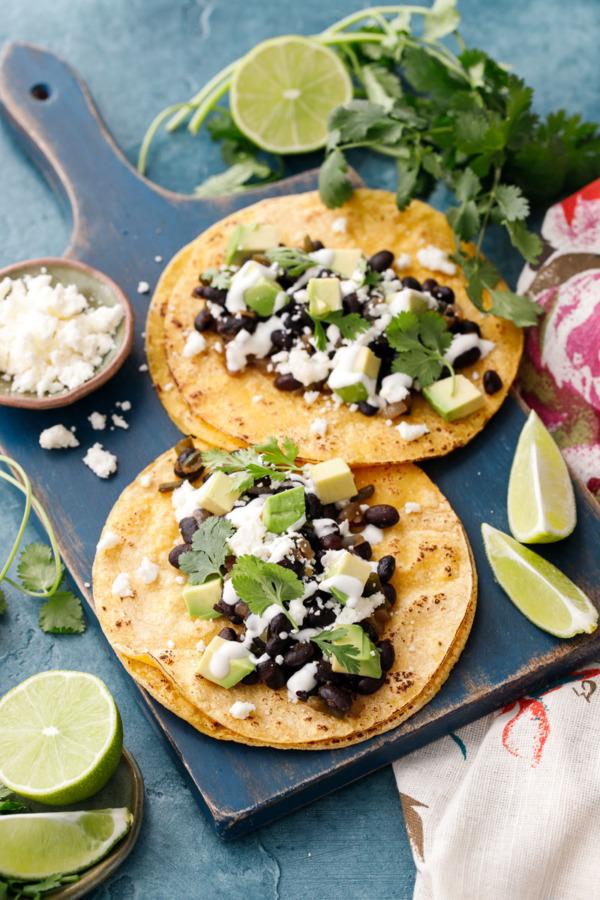 Vegetarian Black Bean Tacos Recipe