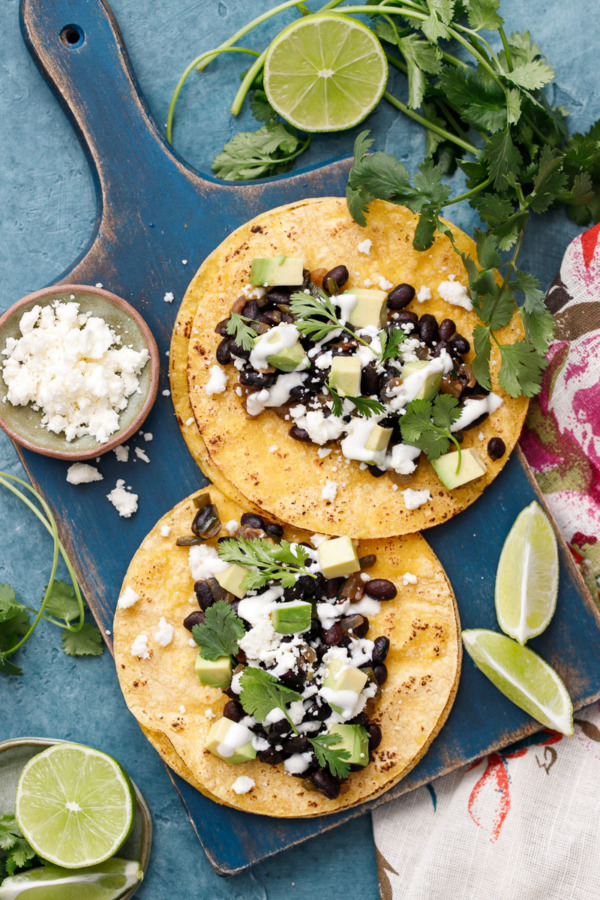 Favorite Black Bean Taco Recipe - Flavorful and healthy!