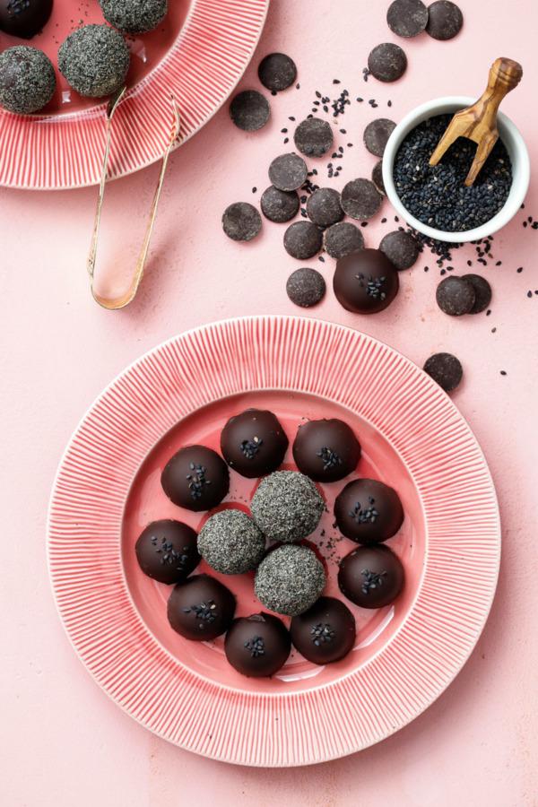 Black Sesame Truffles
